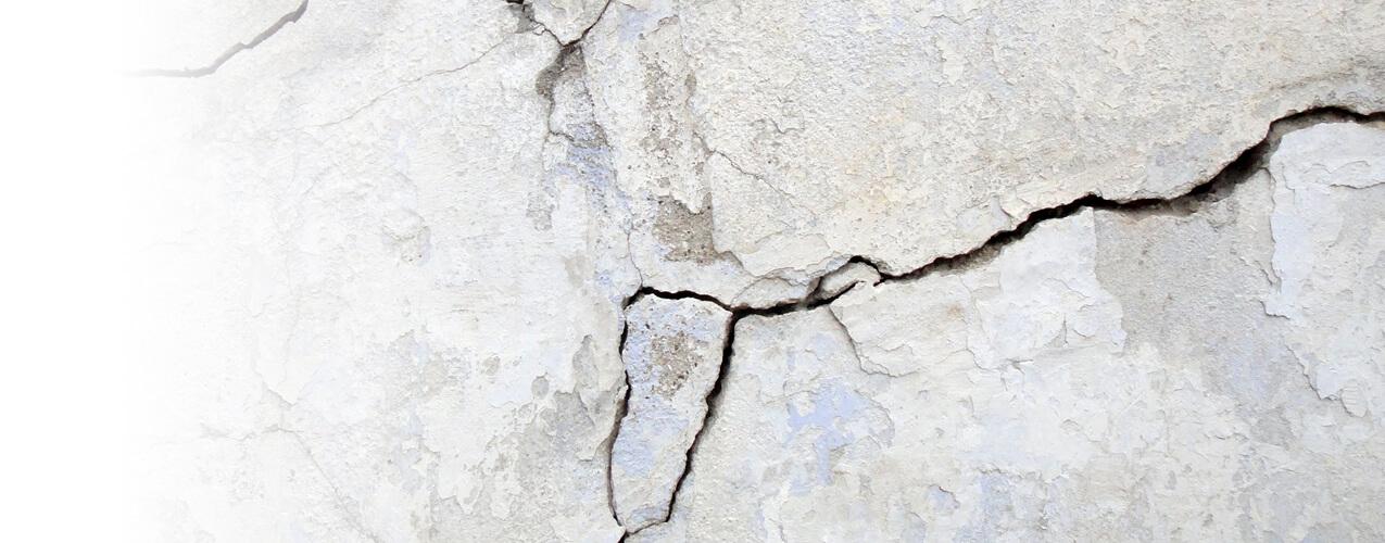 Fissure sur le mur